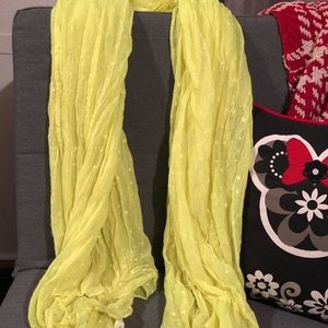 Aeropostale Yellow with stars scarf gently used